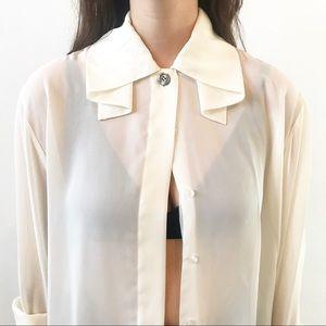 Vintage collar detail blouse